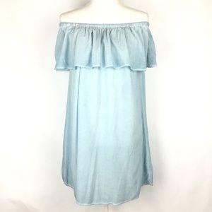 Young Fabulous Broke YFB Womens Dress Blue Sz S